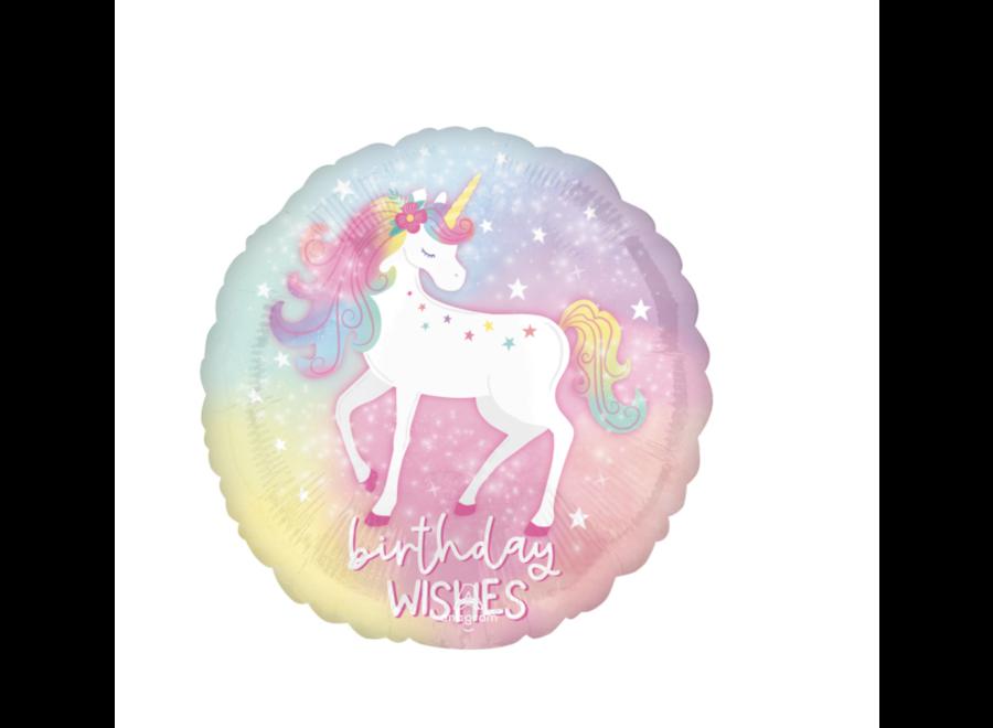 Unicorn birthday wishes ballon