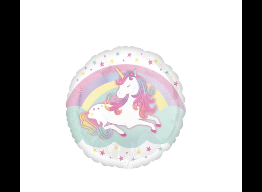 Unicorn regenboog pastel ballon