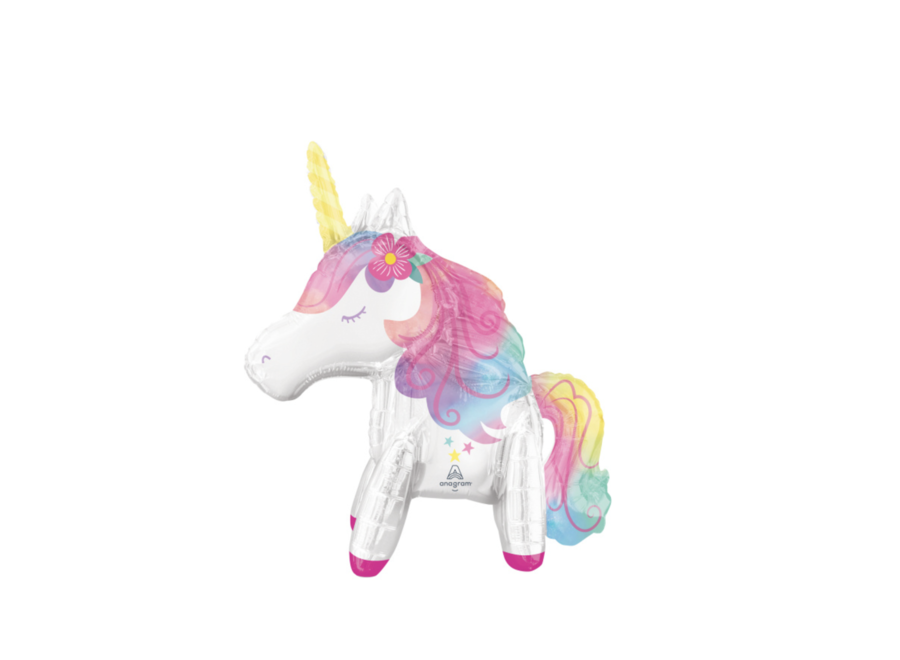 Unicorn pastel ballon staand
