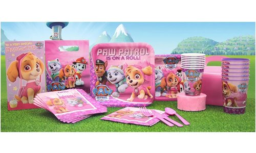 Paw patrol roze feestartikelen