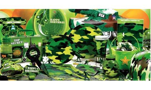 Camouflage feestartikelen