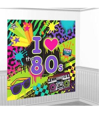 80's wand decoratie