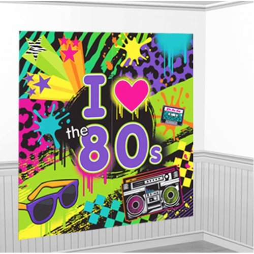 80's wand decoratie