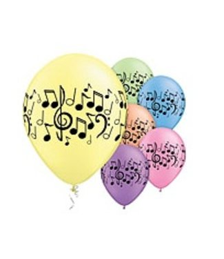 Muziek noten ballon gekleurd