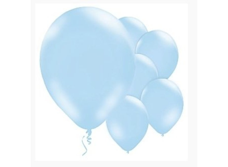 Ballonnen pastel blauw
