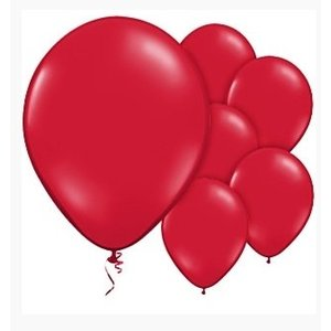Ballonnen donker rood