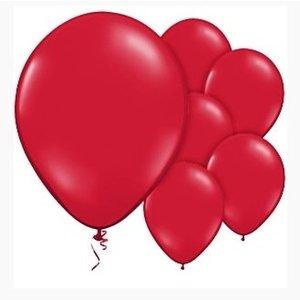 Ballonnen diep rood