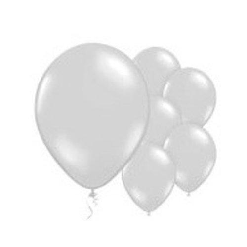 Parel zilver ballonnen L
