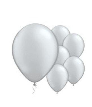 Ballonnen zilver metallic XL set
