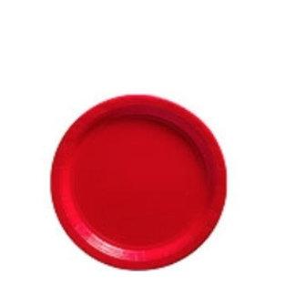 Rode gebaksbordjes