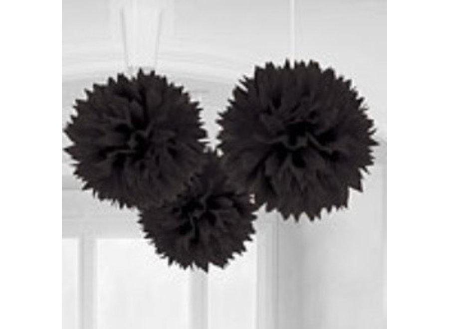 Set pompoms zwart