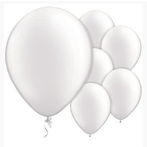 Witte ballonnen pearl