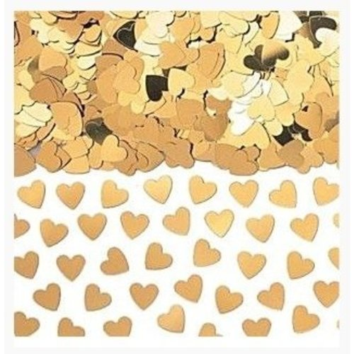 Hartjes confetti goud