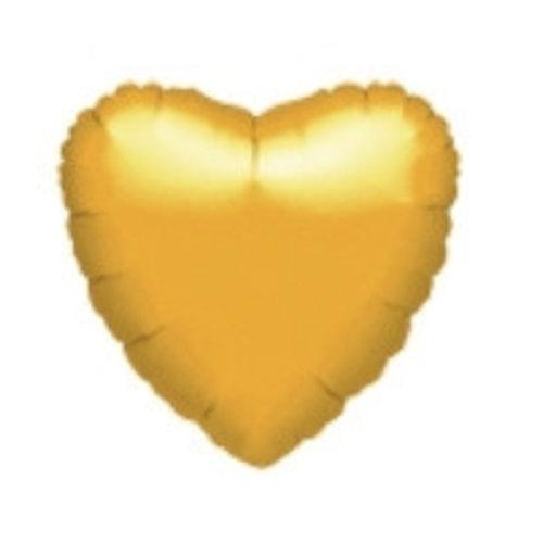Hartjes folie ballonnen goud