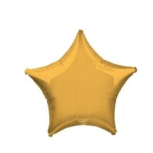 Goud ster folie ballon mat