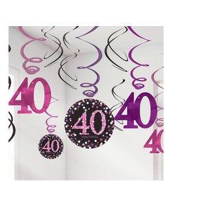 40 jaar hang slinger roze