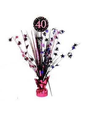 40 jaar tafel decoratie roze
