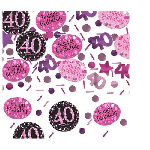 40 jaar confetti roze