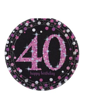 40 jaar borden roze