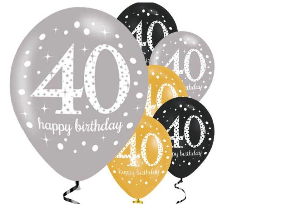 40 jaar ballonnen goud