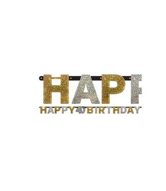 40 jaar happy birthday letter slinger goud