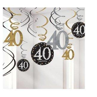 40 jaar hang slingers goud