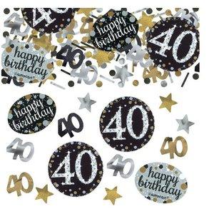 40 jaar confetti goud