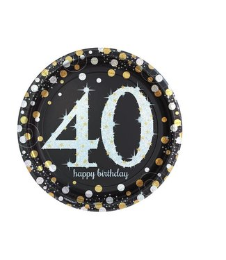 40 jaar borden goud