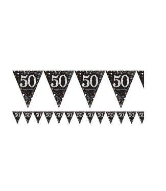 Amscan  50 jaar vlaggetjes goud