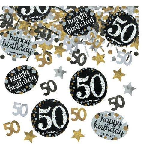 50 jaar confetti goud