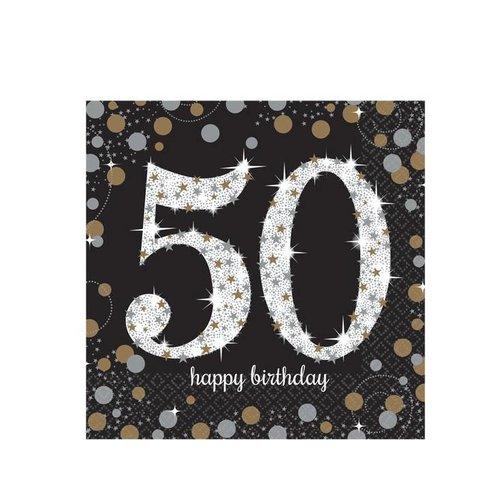 50 jaar servetten goud
