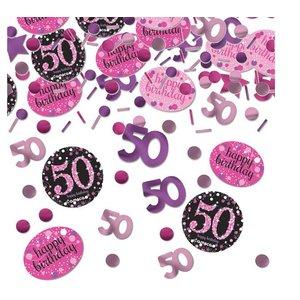 50 Jaar confetti roze