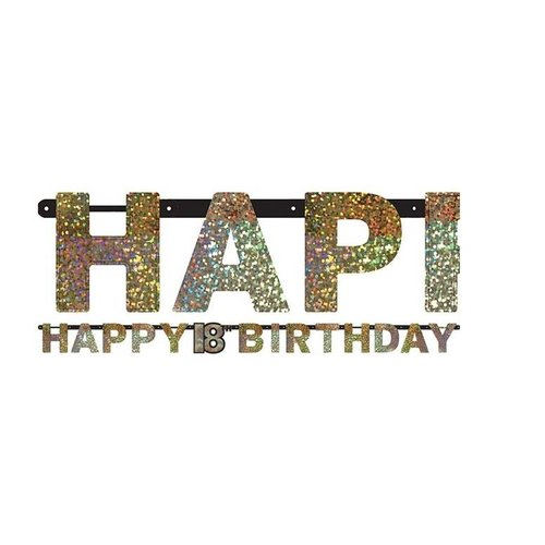 18 jaar happy birthday slinger