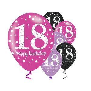 18 jaar ballonnen roze
