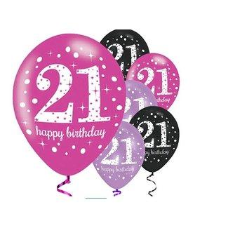 Verjaardag 21 Vrouw.21 Jaar Feestartikelen Versiering J Style Deco Nl J