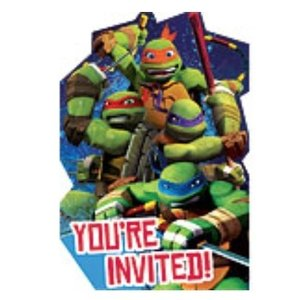 Uitnodigingen Ninja Turtles