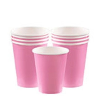 Roze koffie bekers