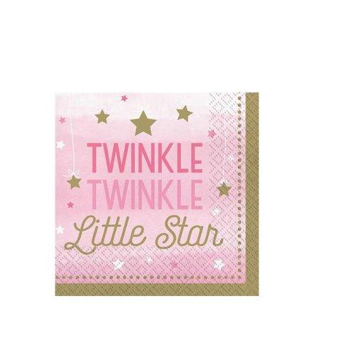 Twinkle little star roze servetten