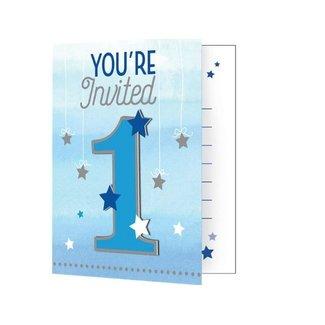 Twinkle 1 jaar uitnodigingen blauw