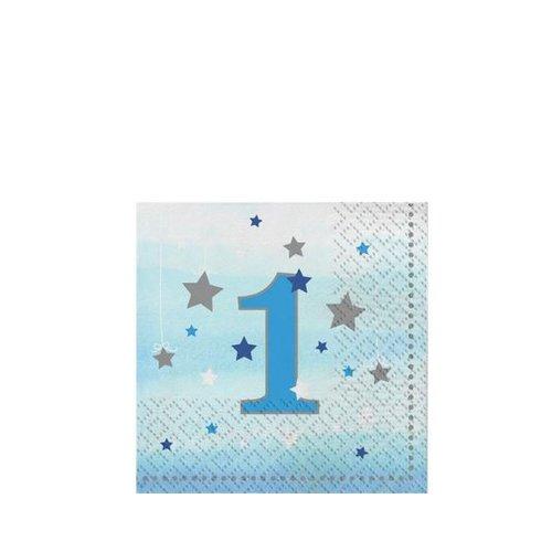 Twinkle 1 jaar servetten  S blauw