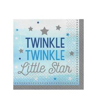 Twinkle Twinkle little star servetten blauw