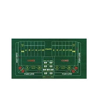 Casino tafel tafelkleed groen