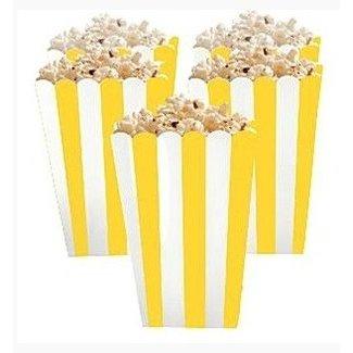 Popcorn bakjes geel
