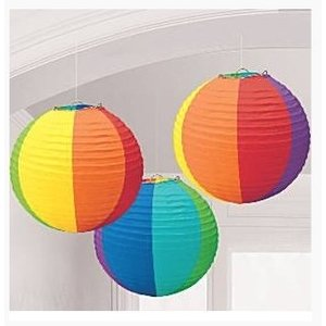 Lampionnen regenboog