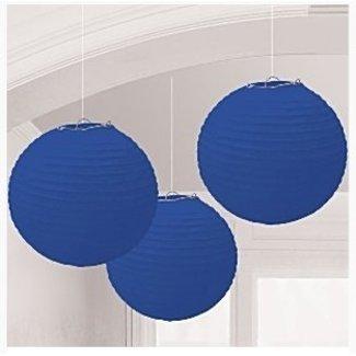 Lampionnen royal blauw