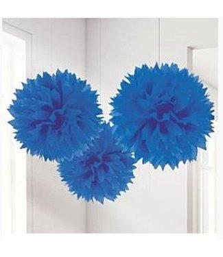 Pom poms royal blauw