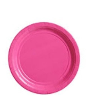 Roze gebaksbordjes