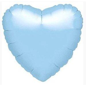 Baby blauw hart ballon