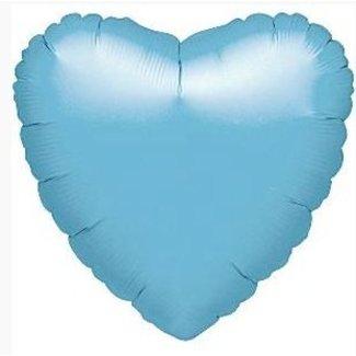 Hart ballon pastel blauw