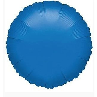 Royal blauw folie ballon rond